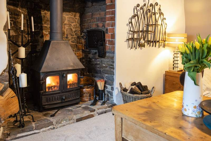 Sit back and relax in front of a roaring wood-burner.