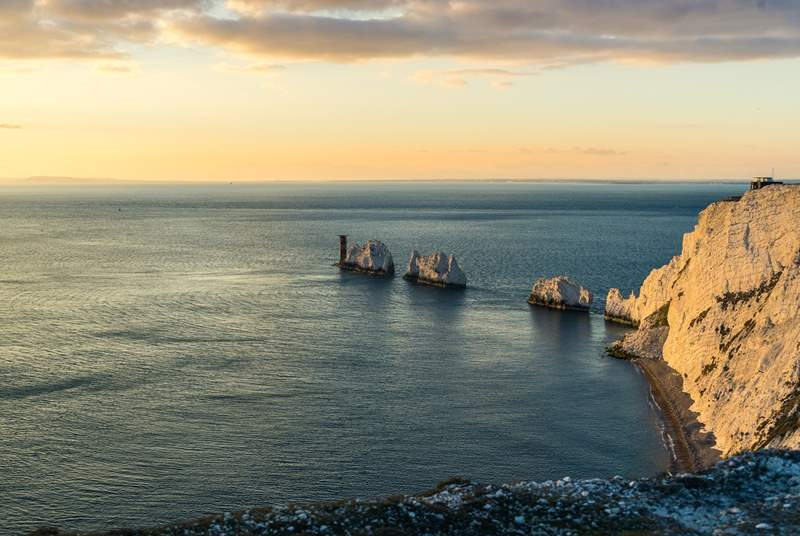 The Needles located on the west side of the Island is well worth a visit for the view!