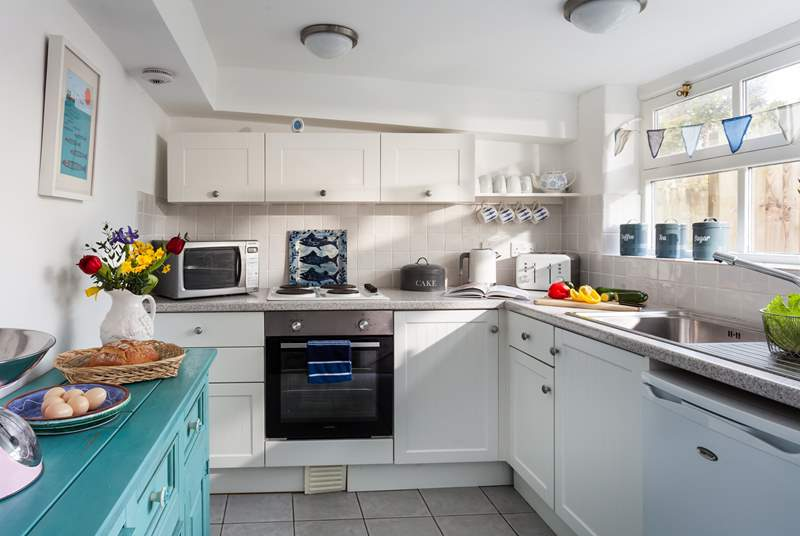 The kitchen is light, airy and very well-equipped.