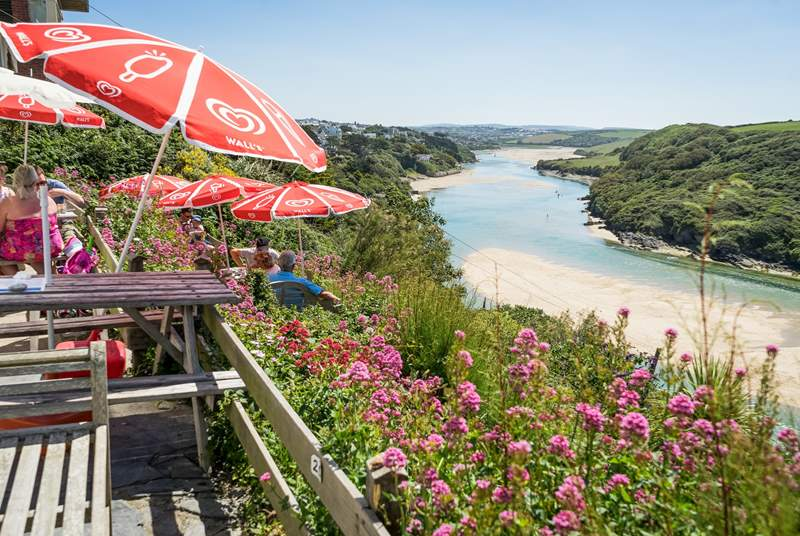 Visit the River Gannel in Newquay, and have a cream tea whilst enjoying the view.