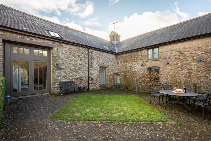 Even on a crisp December day, The Granary offers a very inviting outside space. Fully enclosed, so please feel free to fling the patio doors open and let the dogs and children run safely.