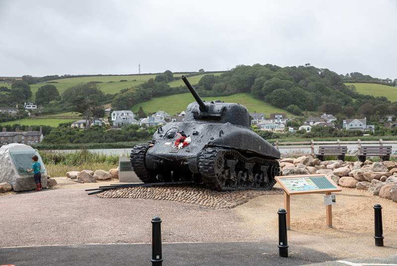 The Sherman tank at Slapton Sands is a wonderful piece of history. Definitely worth a visit.
