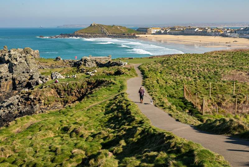 St Ives is a short drive away and has some of Cornwall's most popular beaches.
