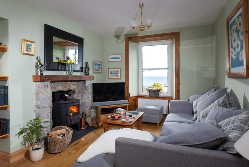 Get cosy in front of the wood-burner with a good book or movie.
