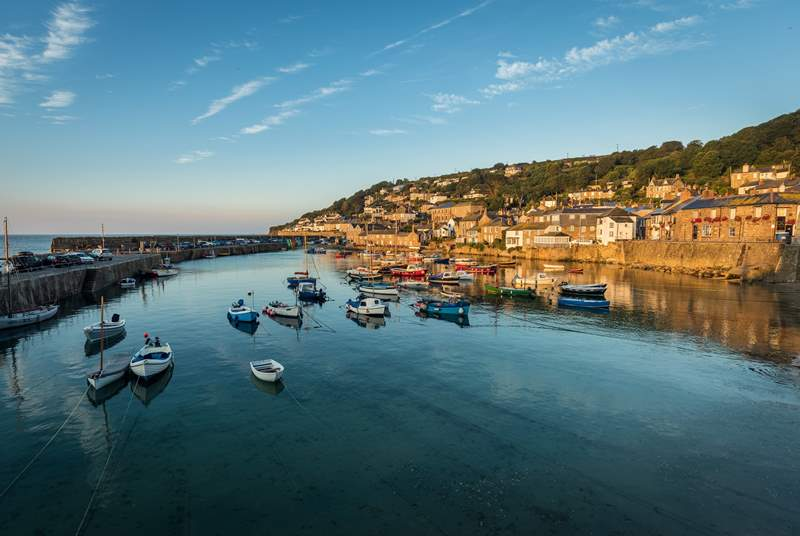 The quaint village of Mousehole is within walking distance. It's only a mile away and a half away and a stunning walk along the coastal road.