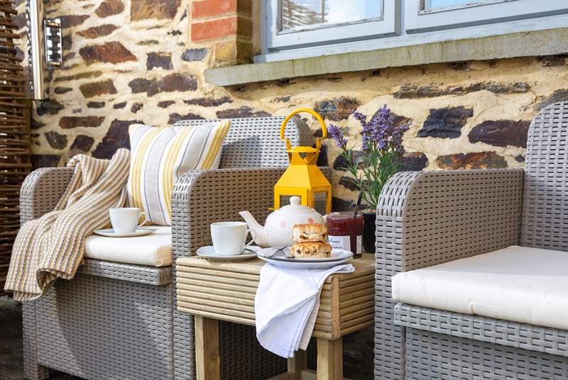 Morning coffee will be enjoyed from the patio area looking out over the surrounding fields.
