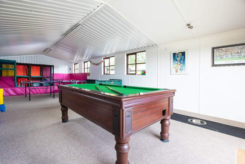 Fun for all ages in the games-room.