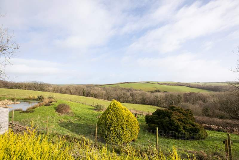 Wonderful countryside views can be enjoyed by all Woodlands Manor Farm guests.