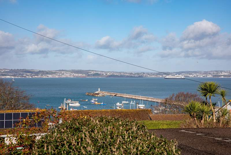 Fabulous views over the harbour and out to sea can be enjoyed from mostly every room in the house.