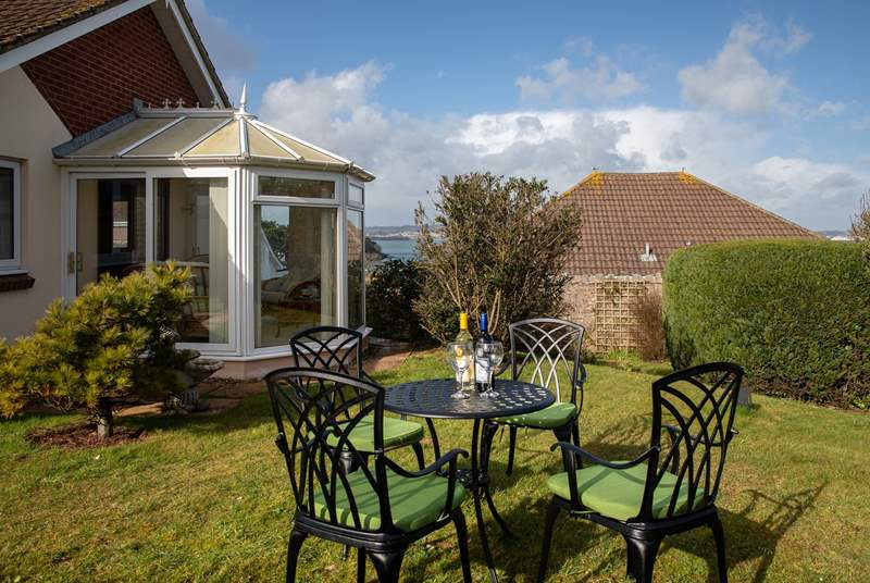 Beautiful garden space with sea views. What a great place to enjoy the Brixham sun.