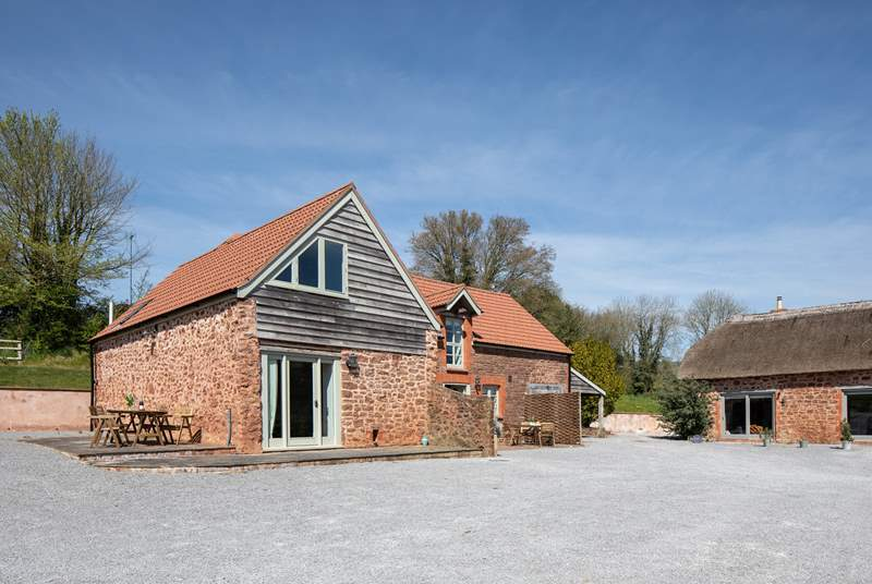 Meadow View and The Stables are adjoined but both cottages have their own private patio areas.