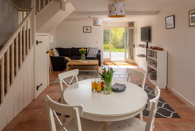 The open-plan living space is fantastic for socialising.