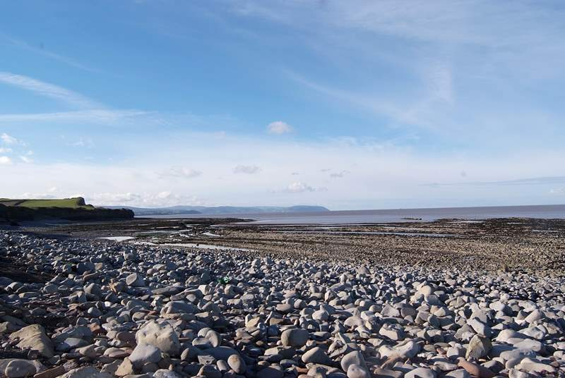 Kilve Beach is in the West Quantock Area of Outstanding Natural Beauty.