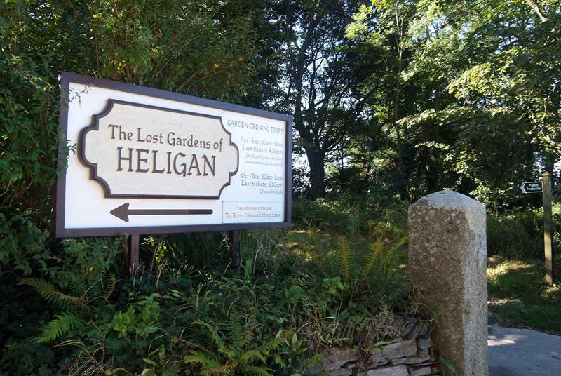 Heligan Gardens is close by.