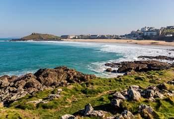 Porthmeor beach is St Ives largest sandy beach.