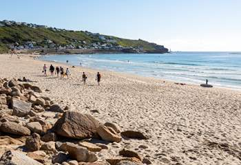 The beautiful sandy beach at Sennen is worth a visit during your stay.