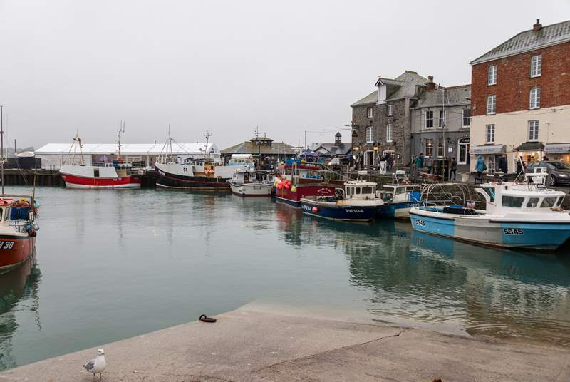 Pretty perfect Padstow is a thirty mile drive up the scenic north coast.