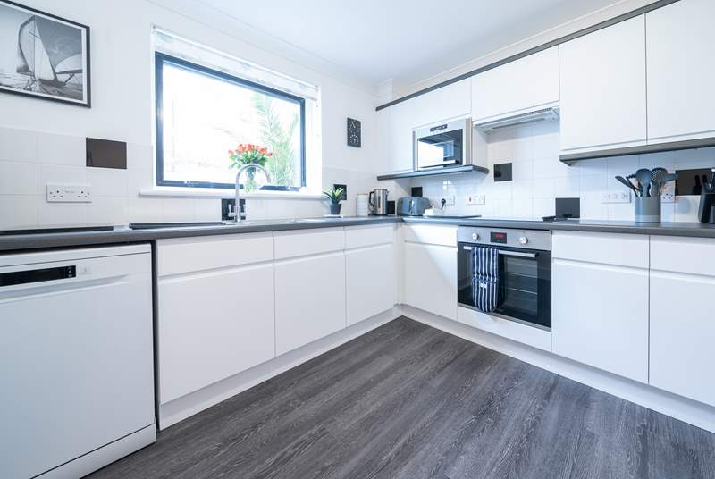 The modern kitchen/diner is ideal to cook up a family favourite.
