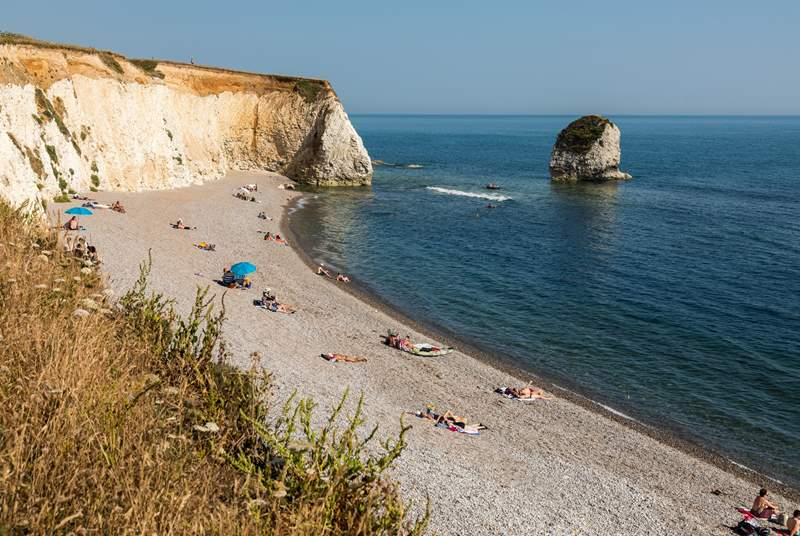 The stunning Freshwater Bay, a short drive from Yarmouth.