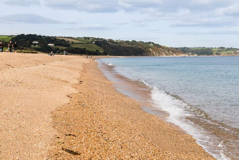 The stunning shingle beach at Slapton Sands. Great for a touch of fishing!