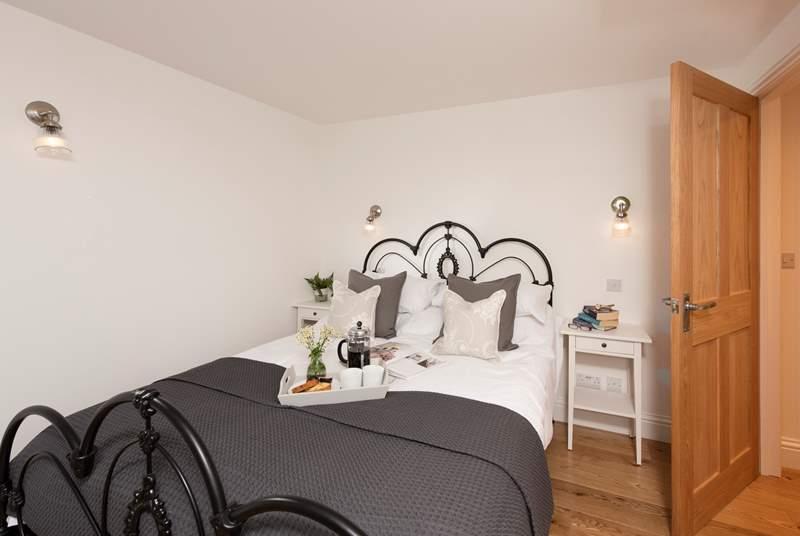 The main bedroom is very romantic.