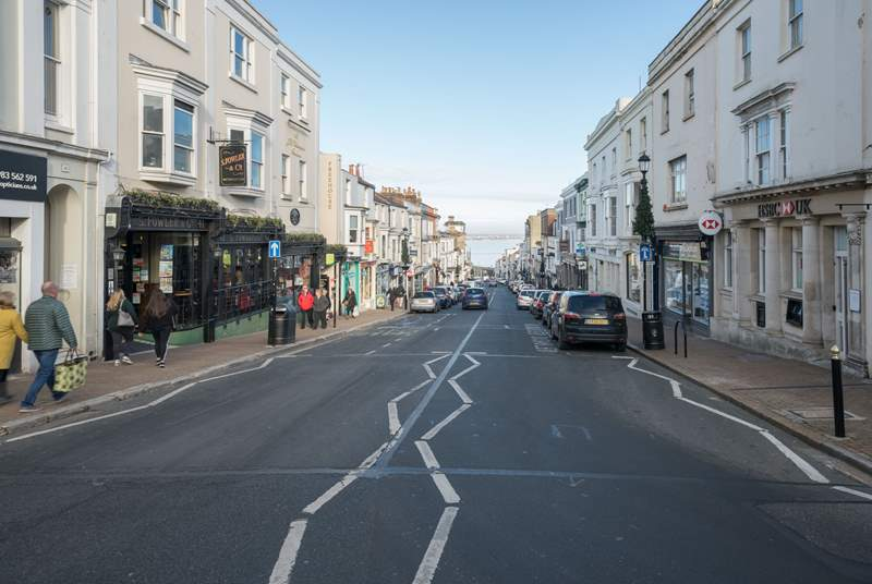 Visit Ryde High Street a short drive from Nettlestone with shops, restaurants and cafes on offer.