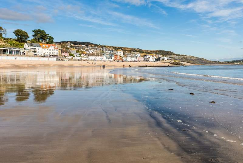 Lyme Regis has a sandy beach and fabulous places to eat.
