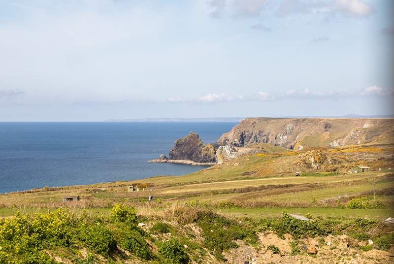 Wow, what a view right down to Kynance Cove.