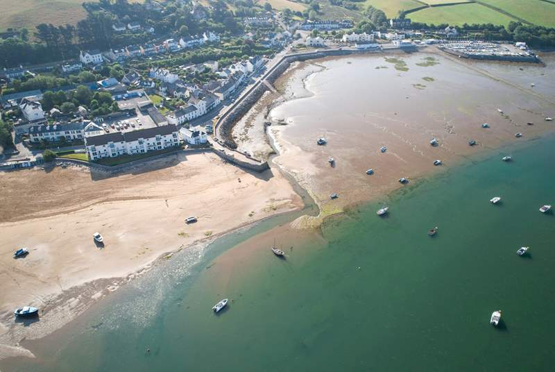 The lovely village of Appledore is not too far away.