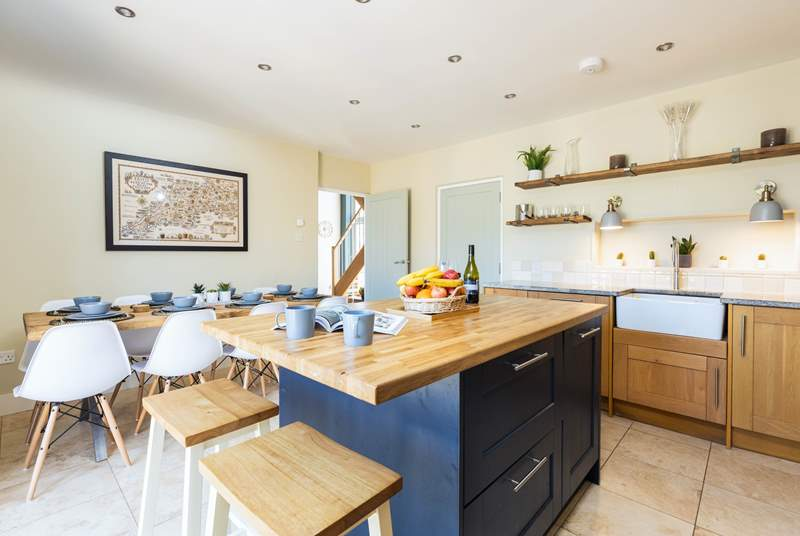The dining area and kitchen, perfect for sociable family time.