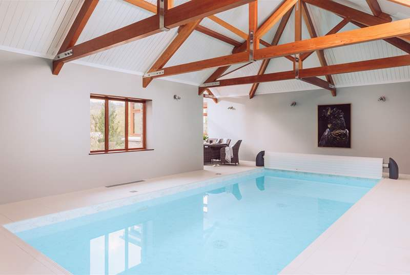 The fabulous indoor pool.
