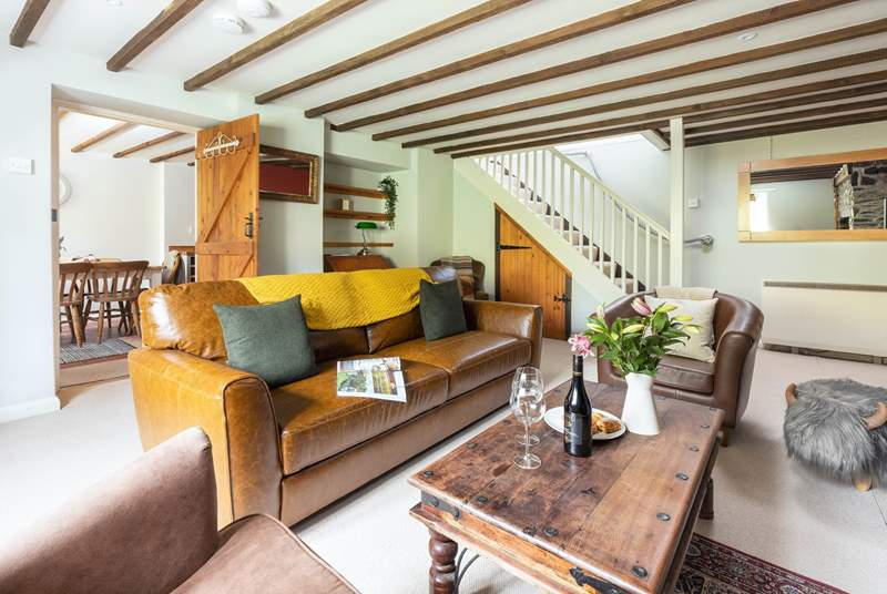 A stylish and cosy sitting-room to enjoy snuggling up in.
