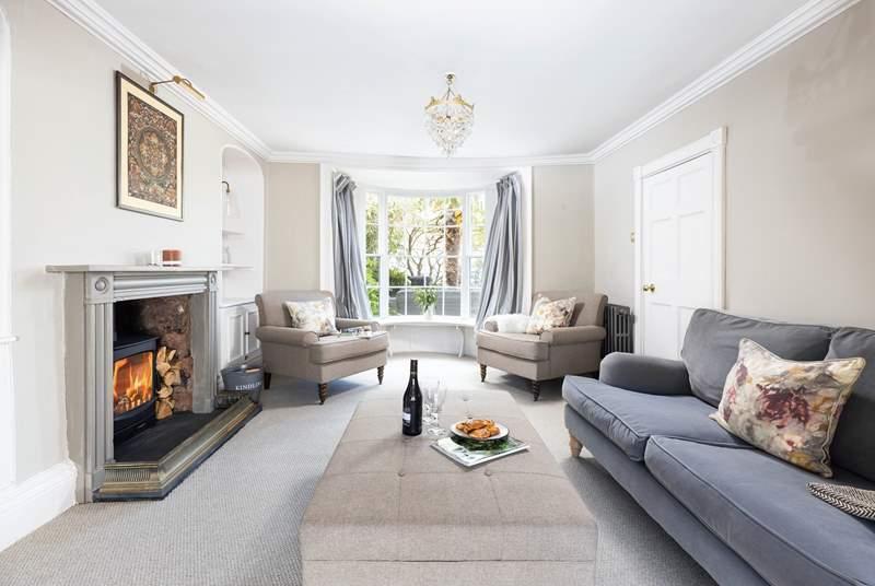 Beautifully furnished, the elegant sitting-room awaits.