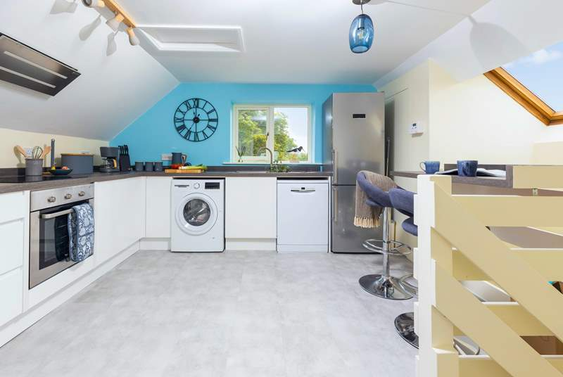 A spacious well-equipped kitchen, perfect for cooking up a holiday treat.