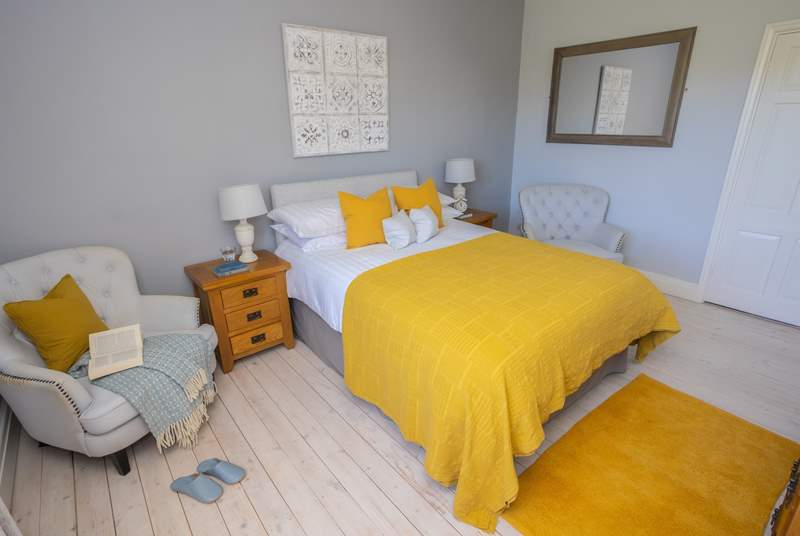 Gorgeous bedroom two has a double bed.