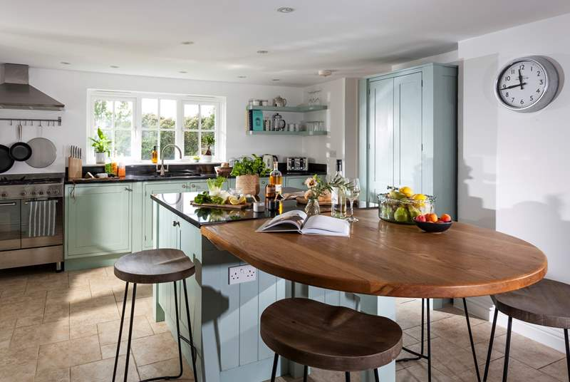 Cook up your favourite holiday meal in this well-equipped kitchen.