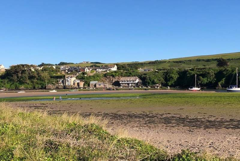 Bantham not only has a brilliant pub but a tidal estuary and yet another beach!