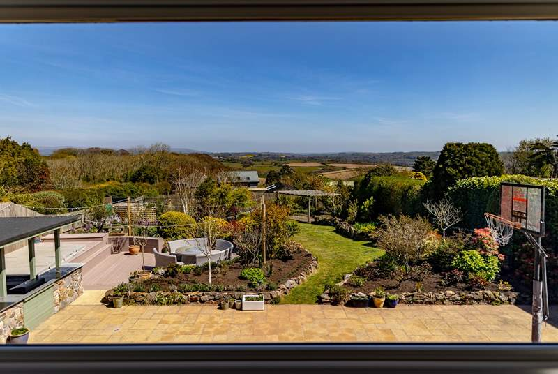 The house boasts spectacular views stretching all the way to Dartmoor National Park.