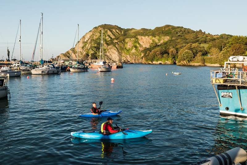 Try something new while staying at The Piggery and kayak around Ilfracombe harbour.