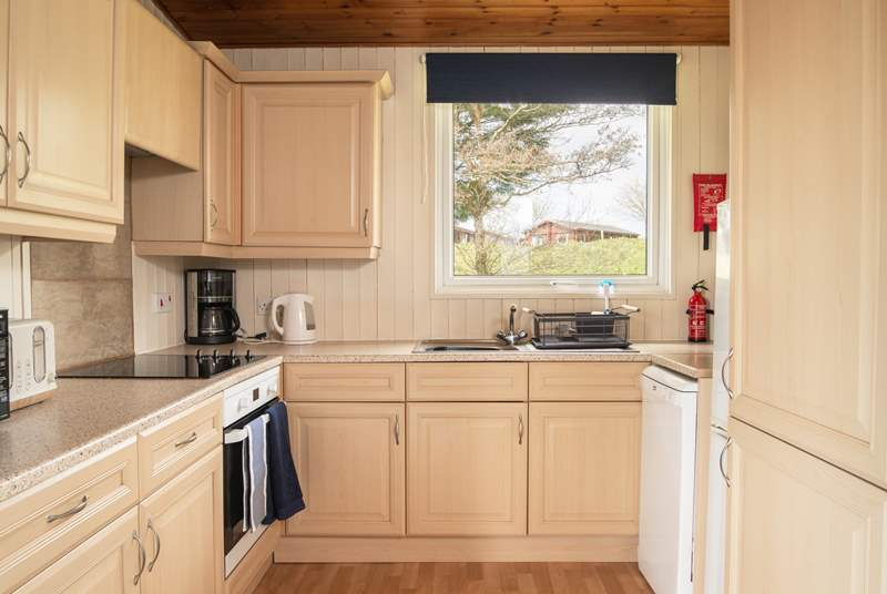The kitchen is fully equipped ready for your enjoyment.