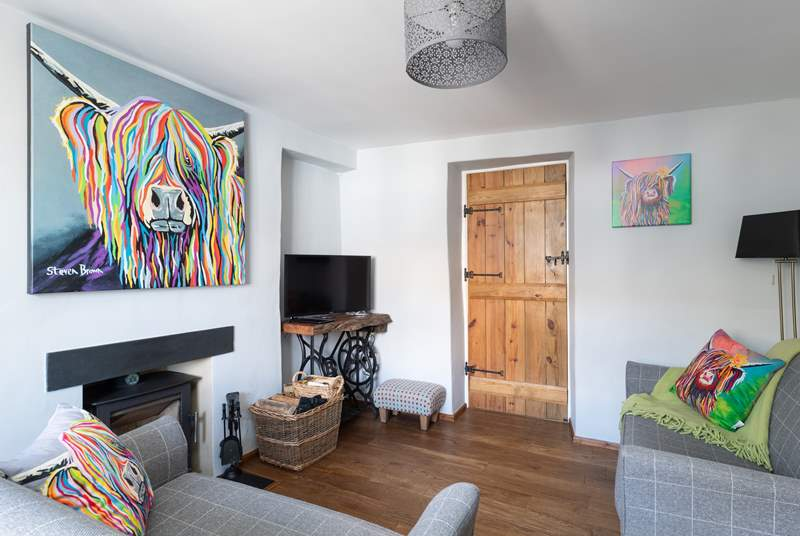 Welcome to Church Gate! The sitting-room with log-burner makes the perfect combination.