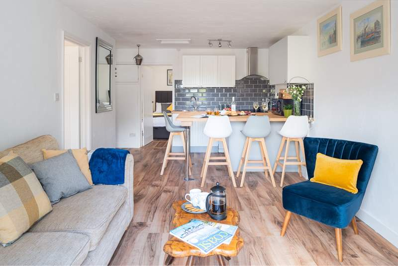 The beautiful open plan living area is the perfect spot for everyone to come together.