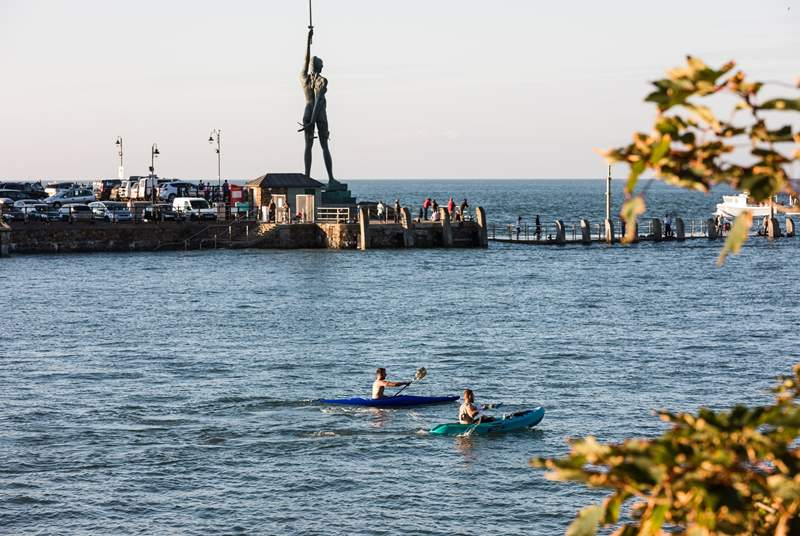 Try something new and kayak around Ilfracombe harbour.