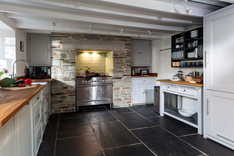 The fabulous kitchen has everything you could possibly need to cook up a feast fit for kings.