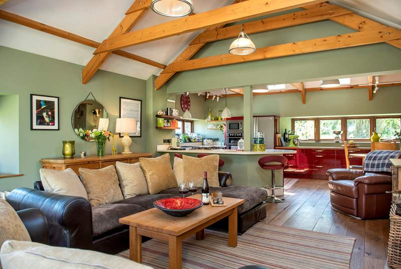 The open plan living-room is a fantastic room for you all to gather.
