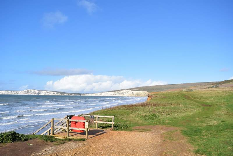 Compton Bay is a real delight in those summer months, with breathtaking views.