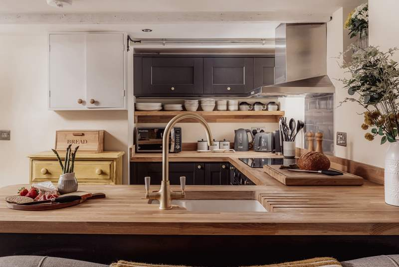 What a fabulous kitchen with all the equipment needed to cook up a feast.