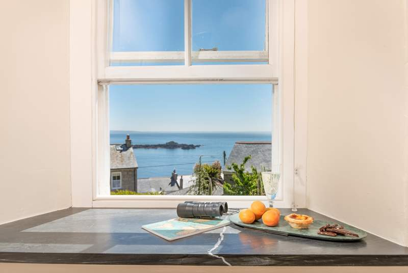 You have sea views from every window.