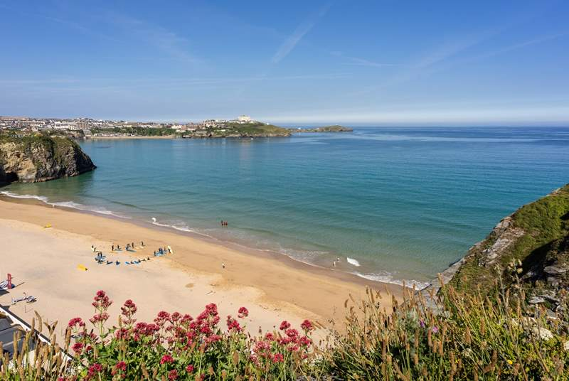 The beautiful beaches of Newquay are not too far away.