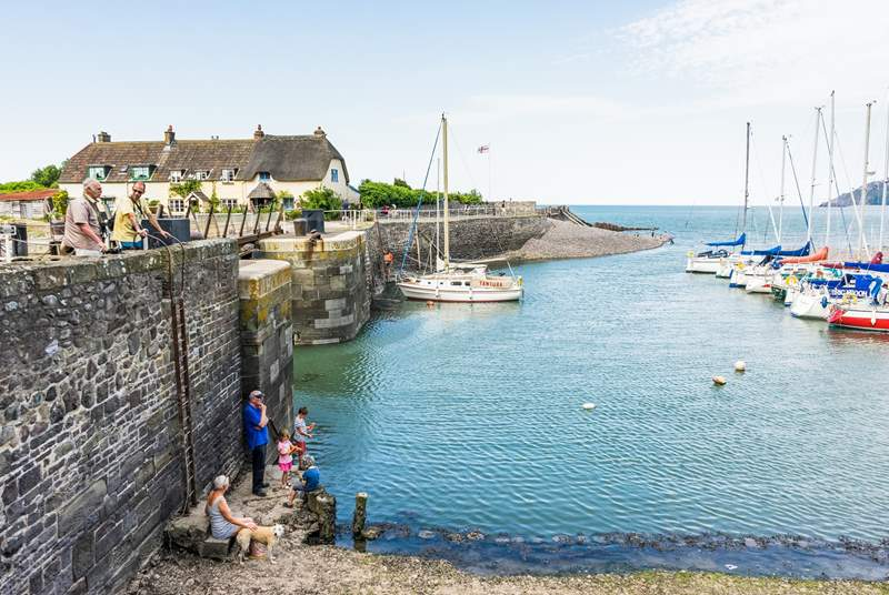 Forty five minutes in the car will bring you to Porlock Weir and the start of the South West Coast Path.